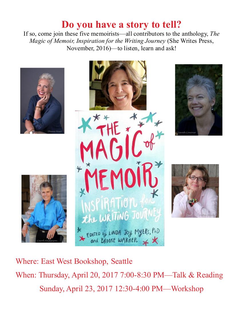 The Magic of Memoir Reading and Workshop